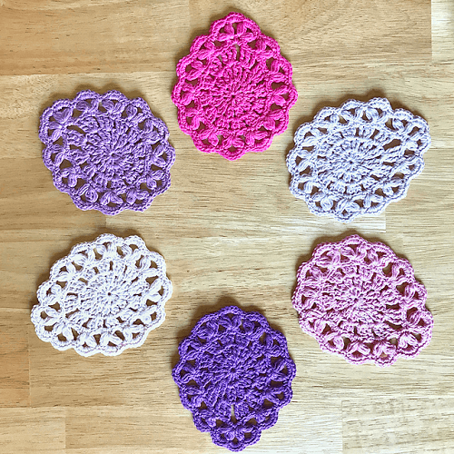 Easter Egg Coasters Crochet Pattern by Elle Muskett