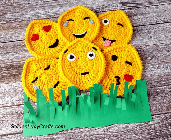 Easter Egg Emojis Crochet Pattern by Golden Lucy Crafts