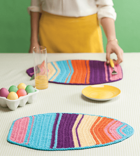 Easter Egg Placemats Crochet Pattern by Linda Permann