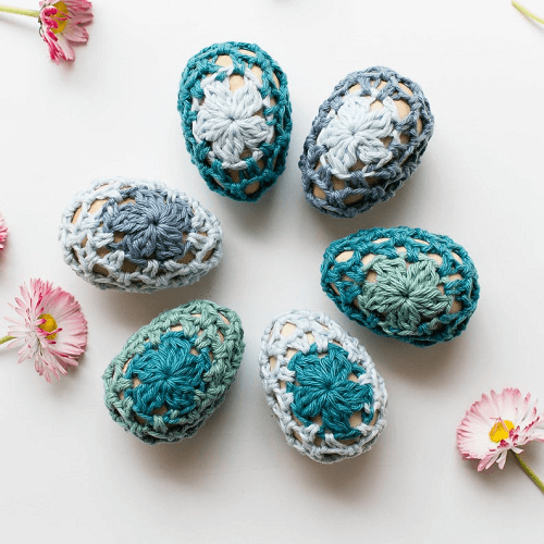 Easter Eggs Cozies Crochet Pattern by Teal And Finch