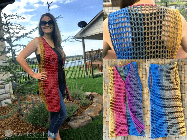 Easy Breezy Vest Crochet Pattern by Heart Hook Home