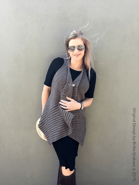 Easy Crochet Vest Pattern by Bubnut Patterns