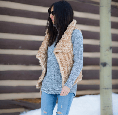 Faux Fur Vest Crochet Pattern by Mama In A Stitch