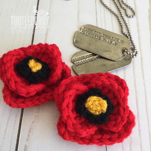Field Poppy Crochet Pattern by Turtle Bunny Creations