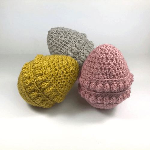 Giant Easter Egg Crochet Pattern by What Jade Made Designs