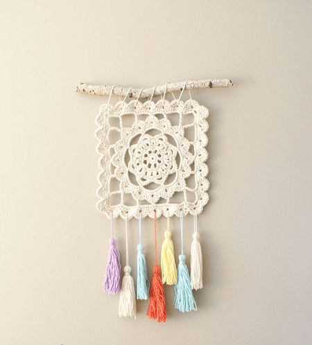Granny Dream Catcher Crochet Pattern by Mid Knits
