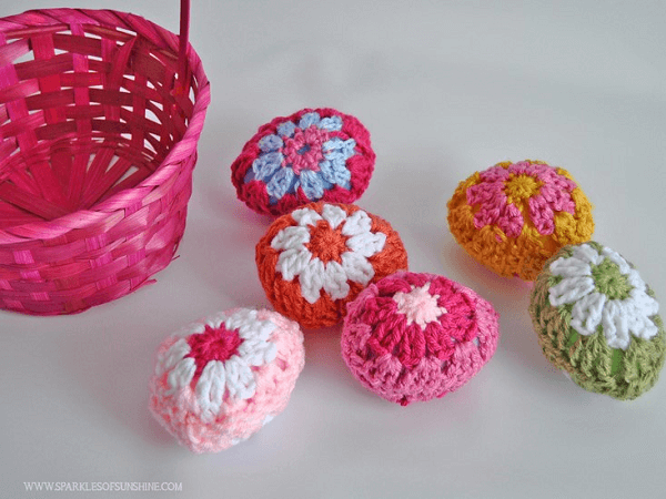 Granny Square Crochet Easter Eggs by Sparkles Of Sunshine