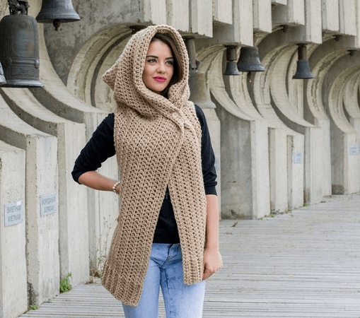 Hooded Vest Crochet Pattern by Avarus Crochet Designs