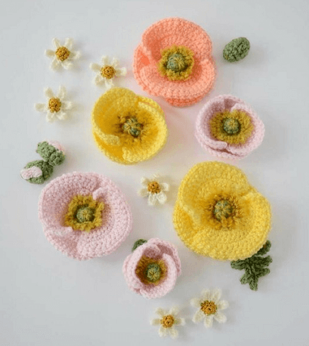 Iceland Poppies Crochet Pattern by Picot Pals