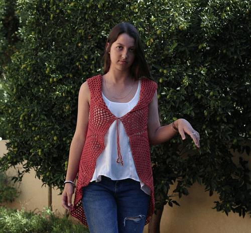 Lace Vest Crochet Pattern by Etty 2504
