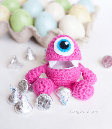 Little Monster Easter Egg Crochet Pattern by One Dog Woof