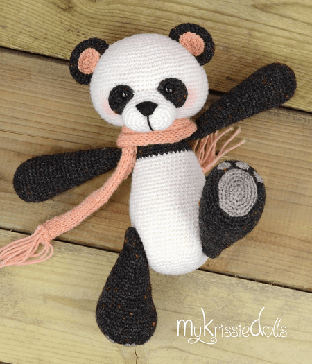 Little Panda Bear Crochet Pattern by My Krissie Dolls