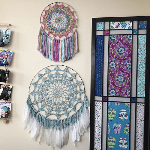 Mandala Dreamcatcher Crochet Pattern by Kristin Omdahl