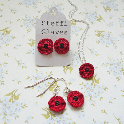 Micro Crochet Pattern For Poppies by Steffi Glaves