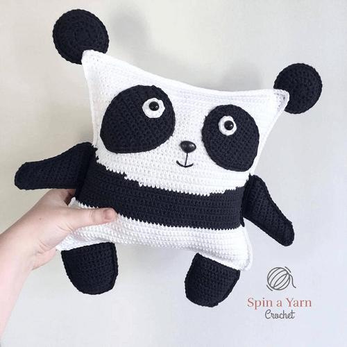 Panda Plushie Crochet Pattern by Spin A Yarn Studio