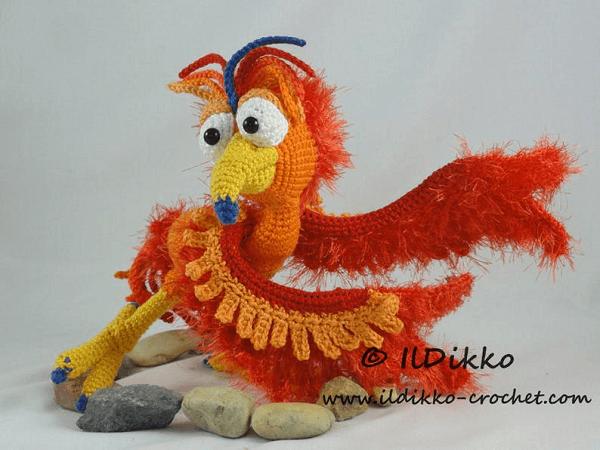 Phoenix Amigurumi Pattern by Il Dikko