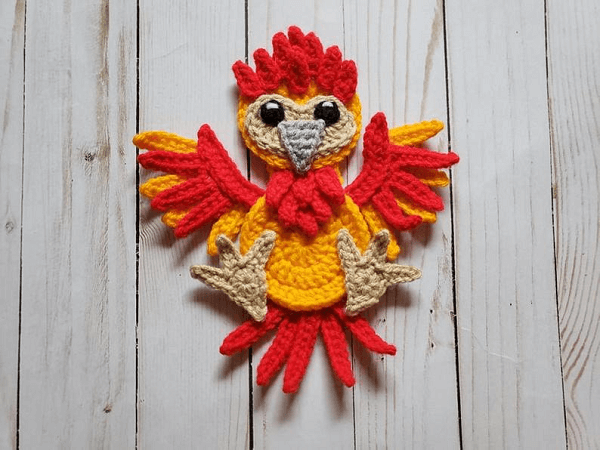 Phoenix Applique Crochet Pattern by The Yarn Conspiracy