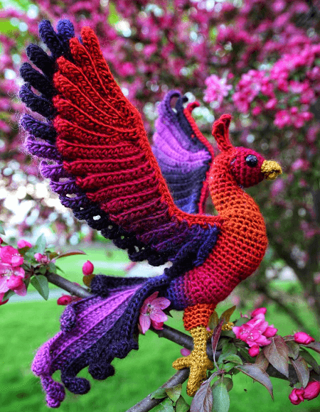 Phoenix Crochet Amigurumi Pattern by Crafty Intentions