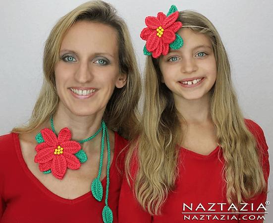 Poinsettia Flower Crochet Pattern by Naztazia