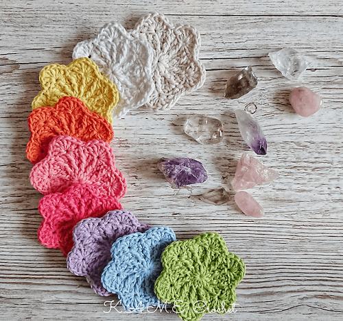 Sakura Face Scrubbies Crochet Pattern by KAME Crochet