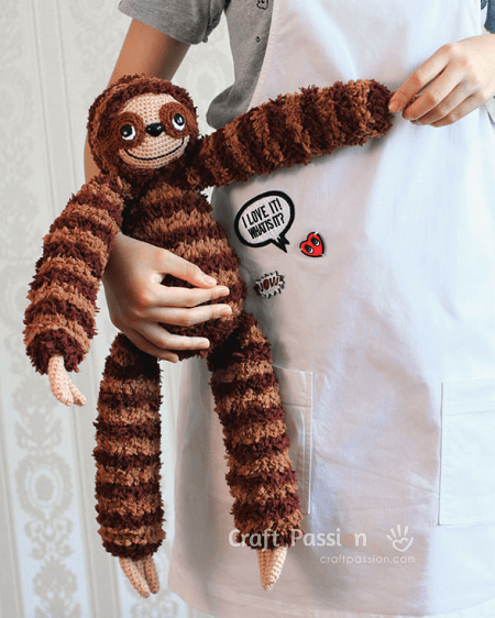 Sloth Amigurumi Crochet Pattern by Craft Passion