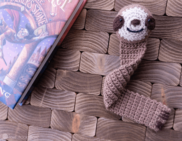 Sloth Bookmark Crochet Pattern by Heart Hook Home