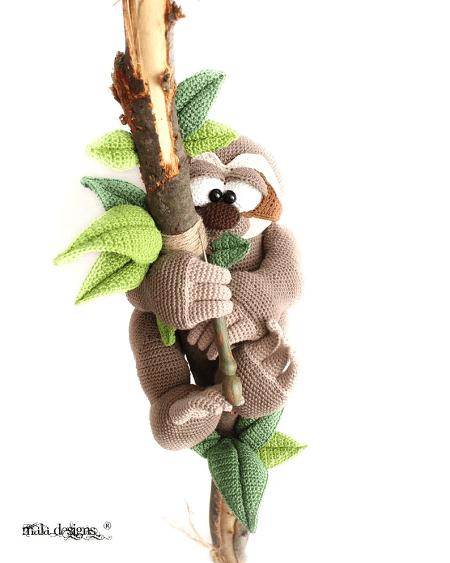 Sloth Crochet Pattern by Mala Design