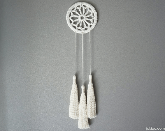 Small Crochet Dream Catcher Pattern by Ja Ki Gu