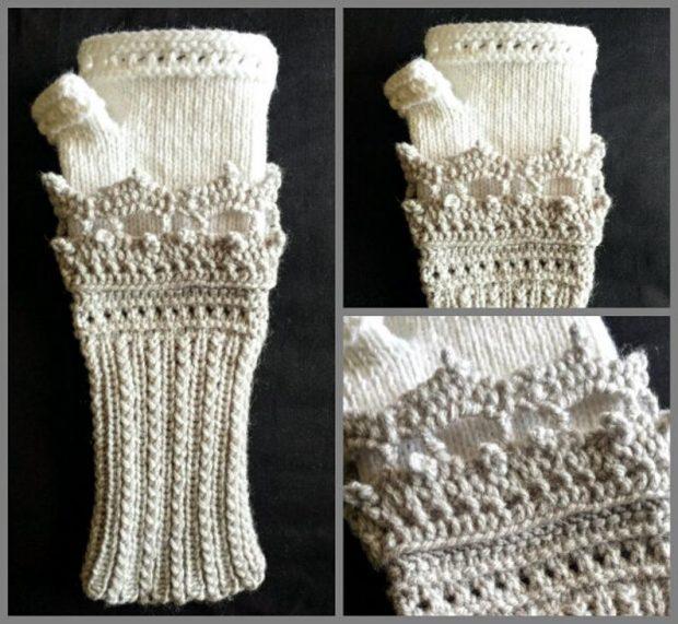 victorian fingerless gloves crochet pattern