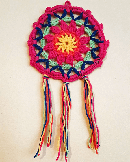 Wildflower Dream Catcher Crochet Pattern by Crochet With Phyllis