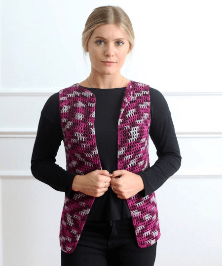 Women's Vest Crochet Pattern by Girl Power Designs