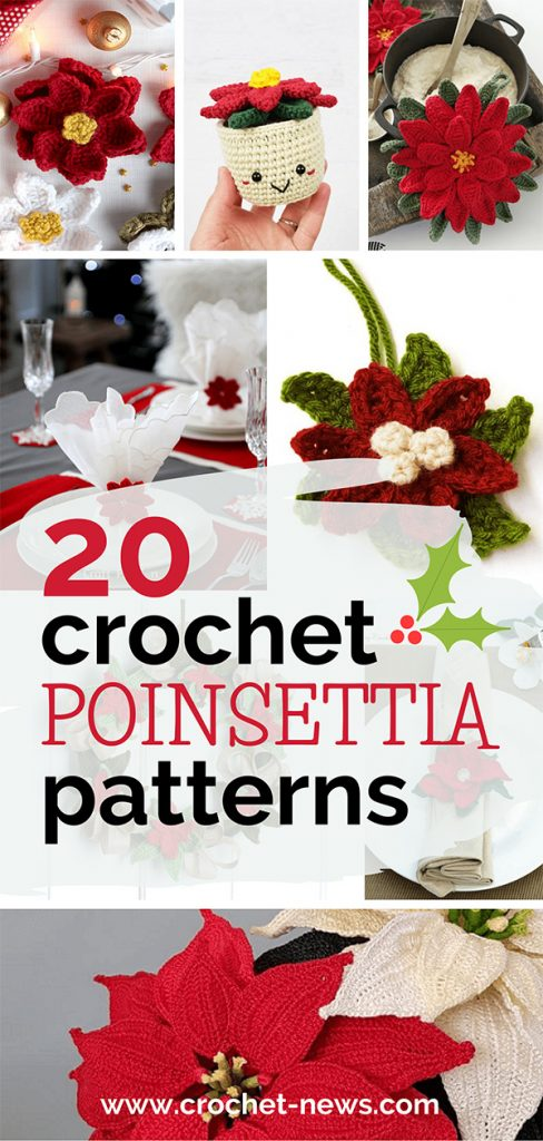 20 Crochet Poinsettia Patterns