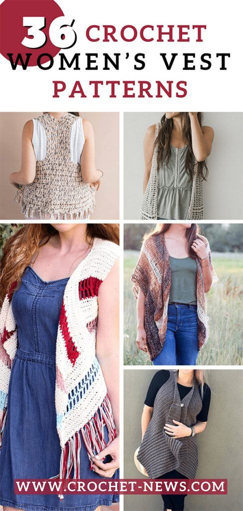 36 Crochet Women's Vest Patterns