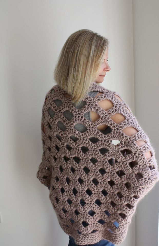 Lazy Summer Chunky Crochet Cocoon Cardigan Pattern