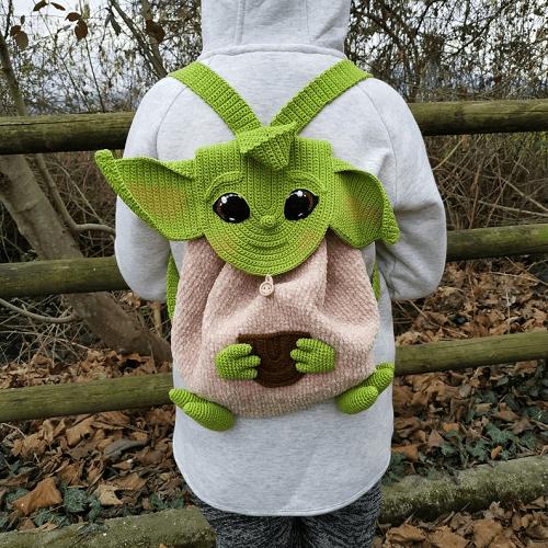 Baby Yoda Backpack Crochet Pattern by Crochet Pattern World