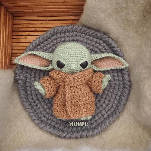 Baby Yoda The Child Crochet Pattern by Yarn Arts AU