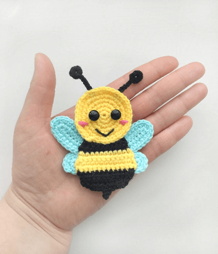 Bee Applique Crochet Pattern by Fancy Infancy Crochet