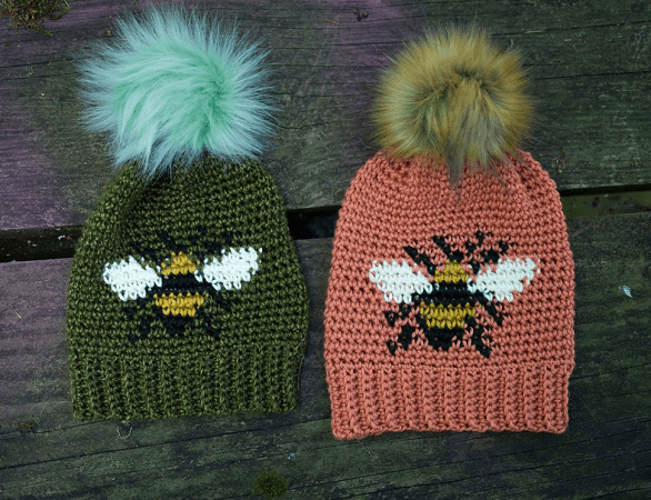 Bee Beanie Crochet Pattern by Hailey Bailey
