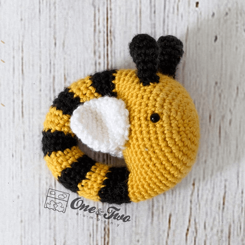 Bee Rattle Crochet Pattern by One And Two Company