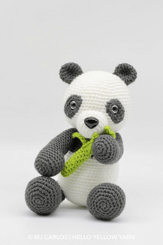 Boo, The Panda Amigurumi Pattern by Hello Yellow Yarn