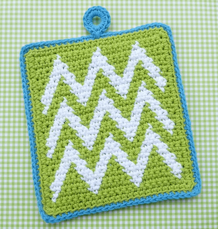 Chevron Potholder Crochet Pattern by Whiskers And Wool