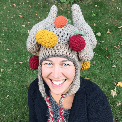 Cooked Turkey With Veggies Crochet Hat Pattern by The Ruthless Crafter