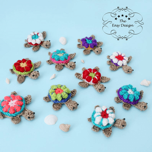 Crochet Baby Turtles Pattern by The Easy Design
