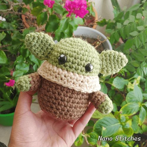Crochet Baby Yoda Amigurumi Pattern by Nano Stitches