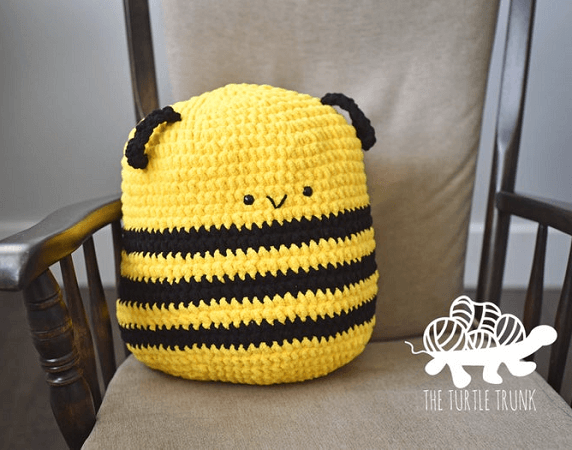 Crochet Bee Plushie Pattern by The Turtle Trunk