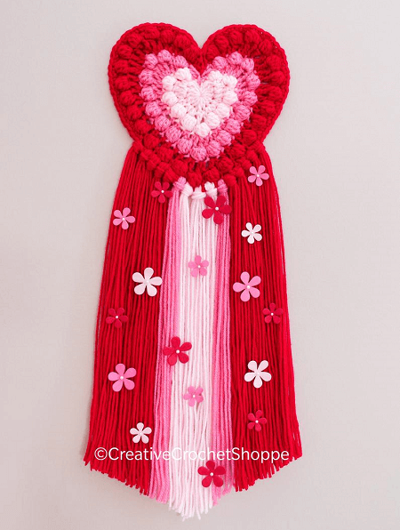 Crochet Boho Heart Wall Hanging Pattern by Creative Crochet Shoppe