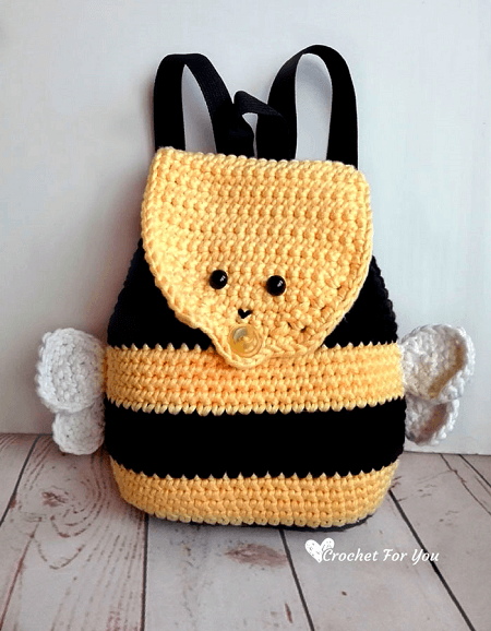 Crochet Bumble Bee Backpack Pattern by Crochet For You