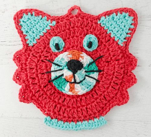 Crochet Cat Potholder Pattern by Crochet 365 Knit Too
