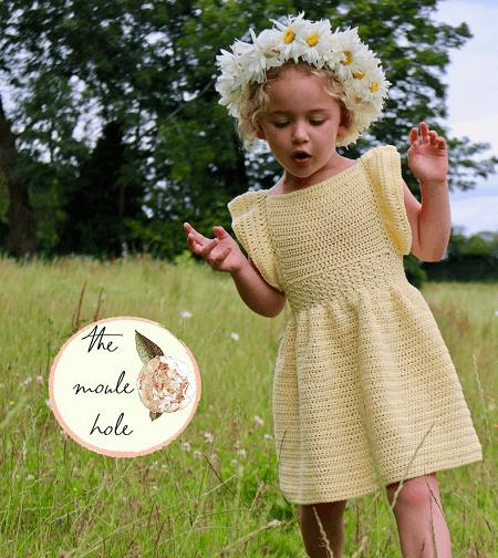 Crochet Child Dress Pattern by The Moule Hole