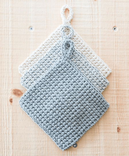 Crochet Double Thick Potholders Pattern by Sewrella